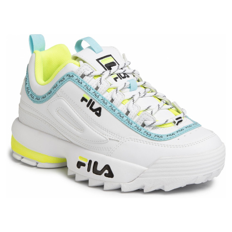 Sneakersy FILA - Disruptor Logo Low Wmn 1010748.92Q White/Black/Neon Lime