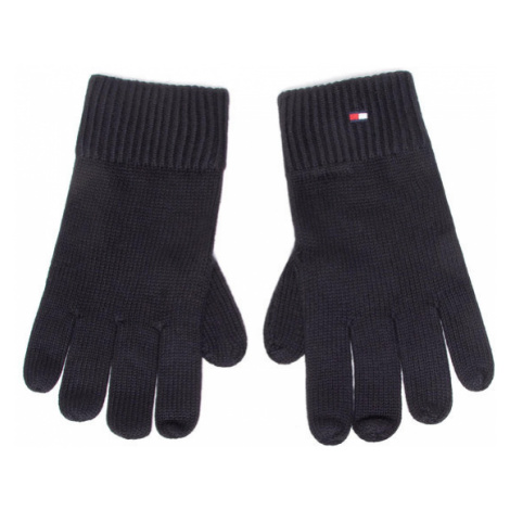 Tommy Hilfiger Rękawiczki Męskie Pima Cotton Gloves AM0AM06591 Czarny