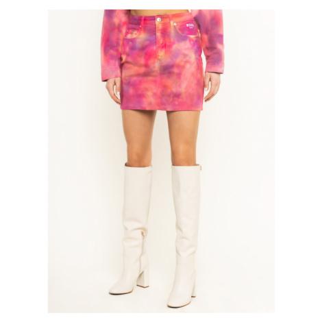MSGM Spódnica jeansowa 2841MDD51T 207239 12 Różowy Slim Fit
