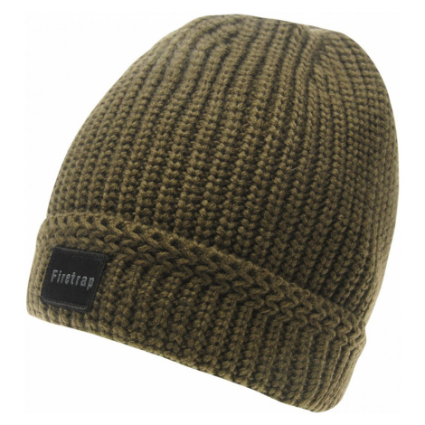 Firetrap Ribbed Beanie Hat Mens