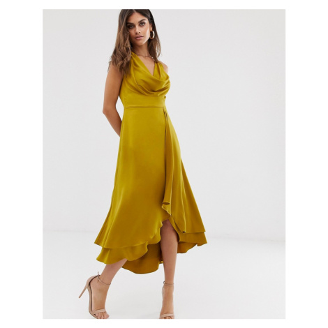 French Connection cowl neck midi dress