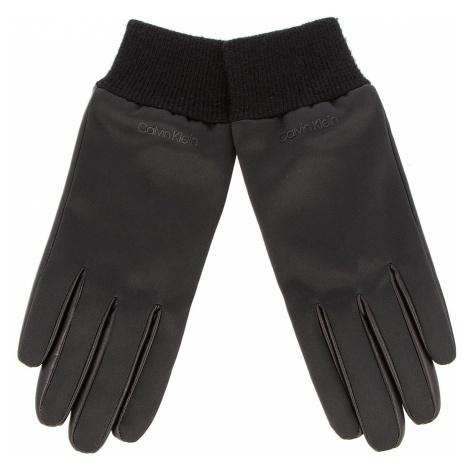 Rękawiczki Damskie CALVIN KLEIN - Satin & Leather Glov K60K604766 001
