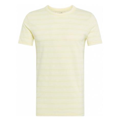 TOM TAILOR DENIM Koszulka pastelowo-żółty / biały