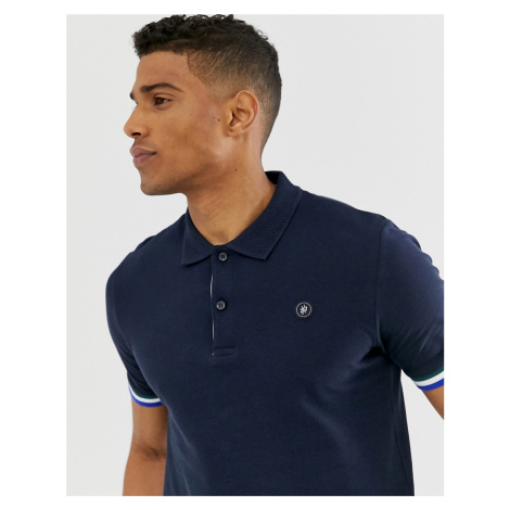 Jack & Jones Originals polo with taping in navy