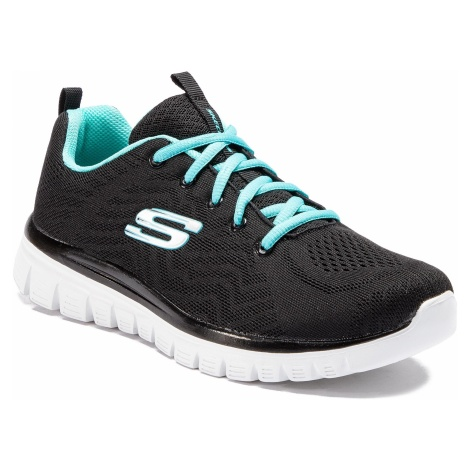 Buty SKECHERS - Get Connected 12615/BKTQ Black/Turquoise