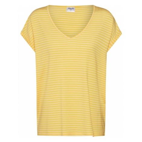 VERO MODA Koszulka żółty / biały