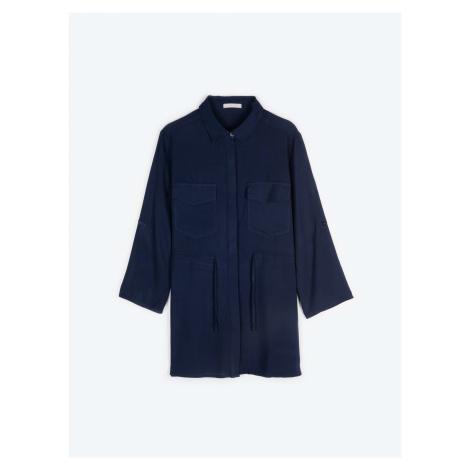 GATE Bluzka z wiskozy z kieszenią na piersi