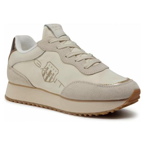 Sneakersy GANT - Bevinda 21533839 Cream/Gold G216