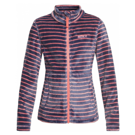 bluza Roxy Igloo Zip - MHG3/Shell Pink/Teddy Stripes