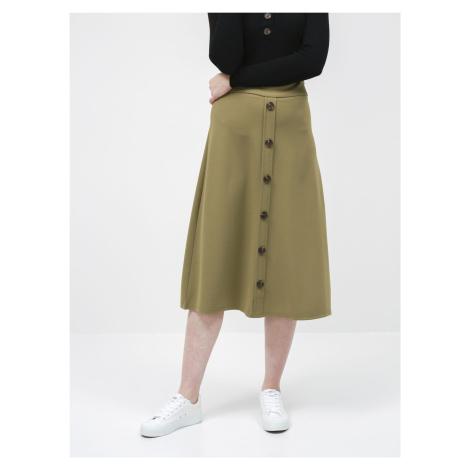 Jacqueline de Yong khaki spódnica midi Bellis