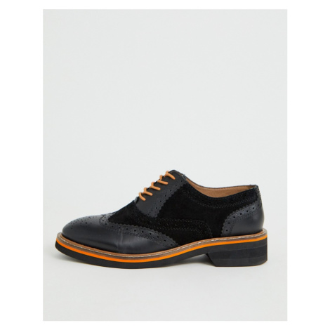 ASOS DESIGN Misse leather brogues in black