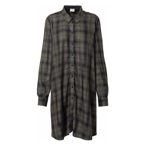 JACQUELINE de YONG Sukienka koszulowa ciemnozielony / czarny