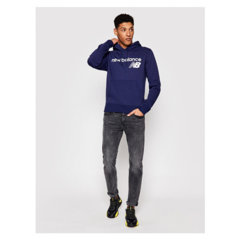 New Balance Bluza C C F Hoodie MT03910 Granatowy Relaxed Fit
