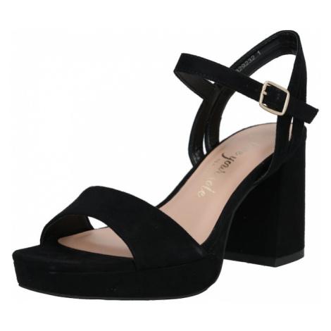 NEW LOOK Sandały z rzemykami 'WF ZEBRA' czarny