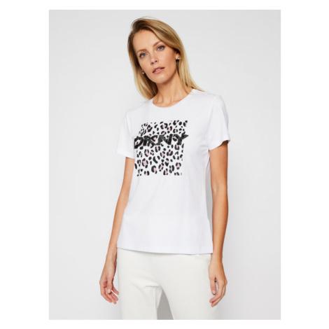 DKNY T-Shirt P0JWTDNA Biały Regular Fit