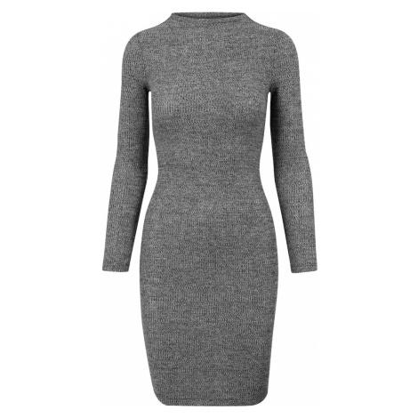 Urban Classics Sukienka ciemnoszary / biały