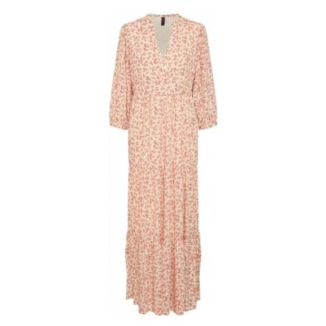 Y.A.S Letnia sukienka 'YASCESARA' pomarańczowy / biały