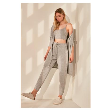 Trendyol Grey Basic Knitted Tracksuit bottom