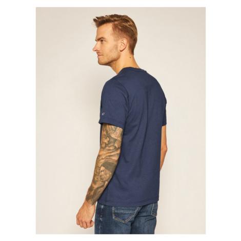 Tommy Jeans T-Shirt Corp Logo C Neck DM0DM09588 Granatowy Regular Fit Tommy Hilfiger