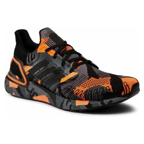Buty adidas - Ultraboost 20 FV8330 Core Black/Core Black/Signal Orange