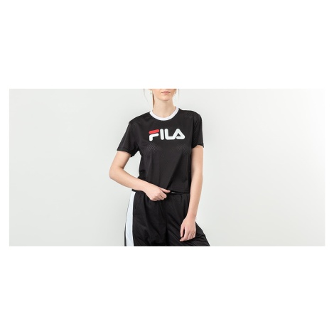 FILA Michelle Cropped Mesh Tee Black
