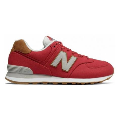 New Balance ML574YLA czerwony 10 - Obuwie miejskie męskie