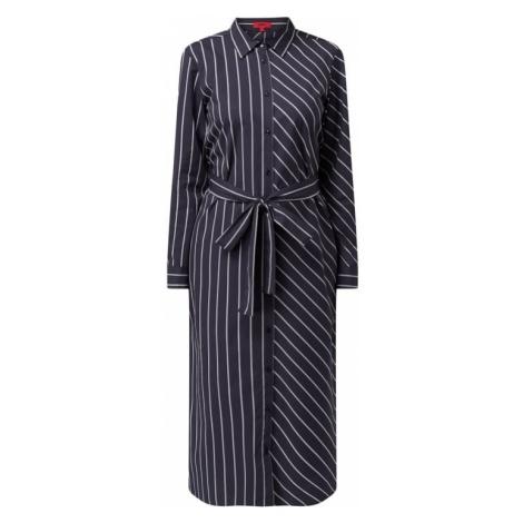 Sukienka koszulowa ze wzorem w paski model 'Elowen' Hugo Boss