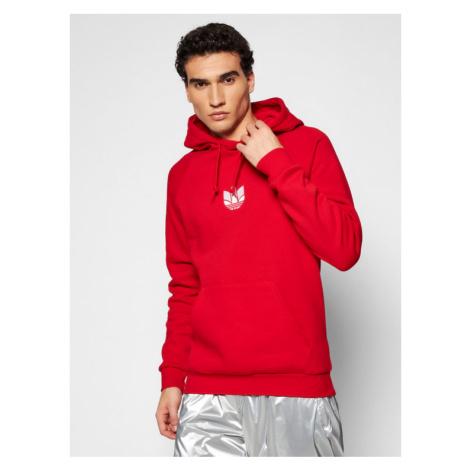 Adidas Bluza adicolor 3D Trefoil Graphic GN3554 Czerwony Regular Fit