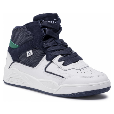 Sneakersy PEPE JEANS - Kurt Action Boot PBS30458 White 800