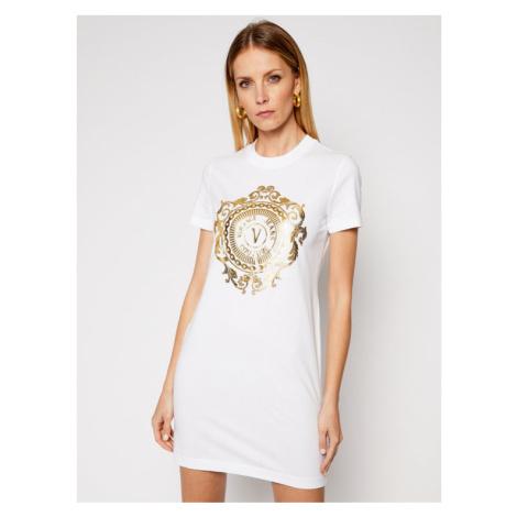 Versace Jeans Couture Sukienka codzienna D2HWA4FA Biały Regular Fit