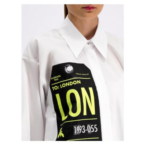 Patrizia Pepe Koszula 8C0305/A510-W146 Biały Regular Fit