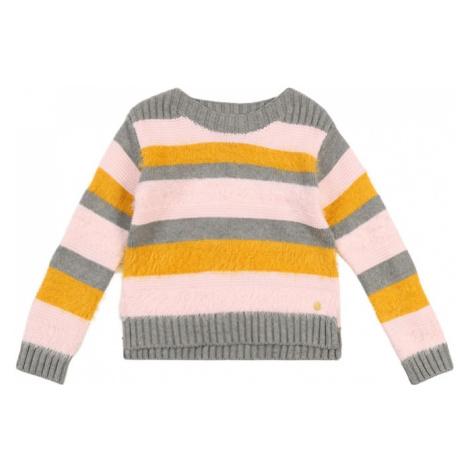 ESPRIT Sweter 'PULLI' żółty / szary / różowy pudrowy