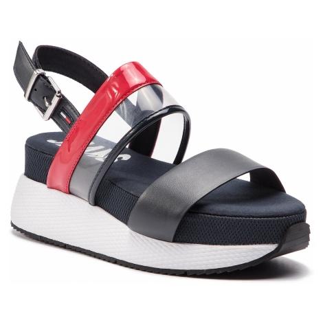 Sandały TOMMY JEANS - Transparent Rwb Hybrid Sandal EN0EN00443 Rwb 020 Tommy Hilfiger
