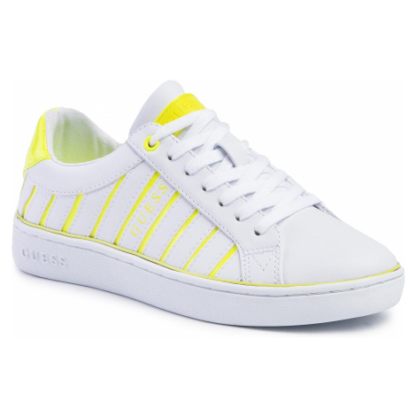 Sneakersy GUESS - Bolier FL5BOL ELE12 WHITE/YELLOW