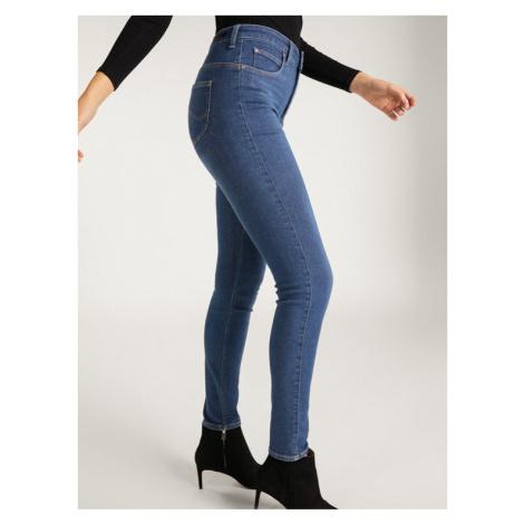 Lee Jeansy Skinny Fit Body Optix L30LMXAX Granatowy Skinny Fit