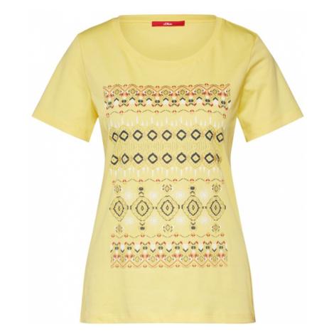 S.Oliver Koszulka żółty / zielony / mieszane kolory