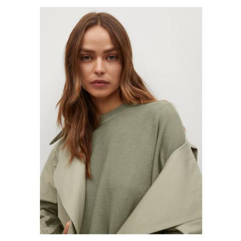 Mango Sweter Milan 87024017 Zielony Regular Fit