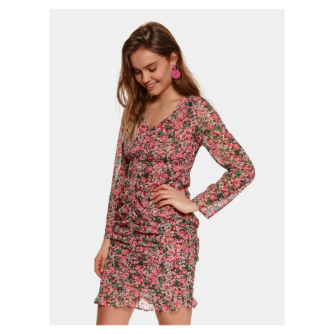 TOP SECRET różowa kwiecista sukienka ołówkowa