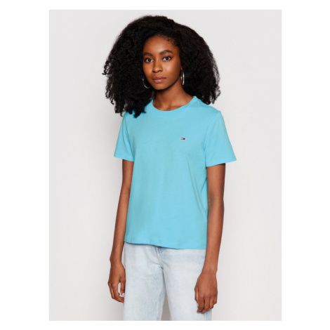 Tommy Jeans T-Shirt C Neck DW0DW09198 Niebieski Regular Fit Tommy Hilfiger