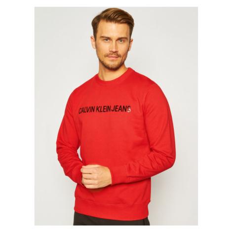 Calvin Klein Jeans Bluza J30J307758 Czerwony Regular Fit