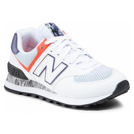 Sneakersy NEW BALANCE - WL574CS2 Biały Kolorowy