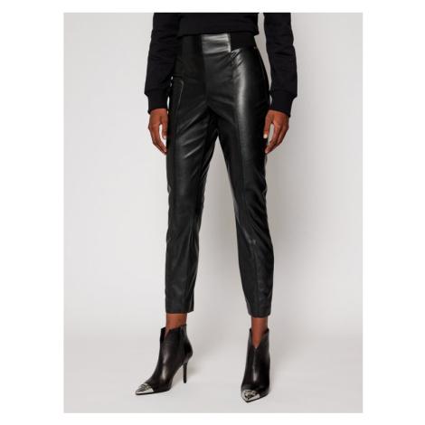 Pennyblack Spodnie skórzane Fronda 27840120 Czarny Slim Fit