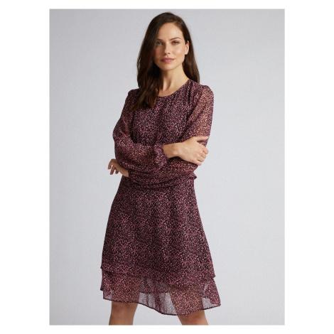 Fioletowa sukienka z gepardowym wzorem Dorothy Perkins