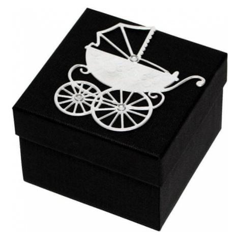 Giftisimo Luksusowy pudełko z Srebrny m wózek