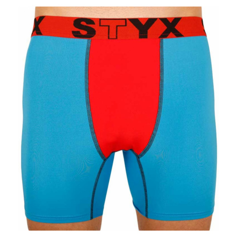 Men's functional boxers Styx blue with red rubber (W961)