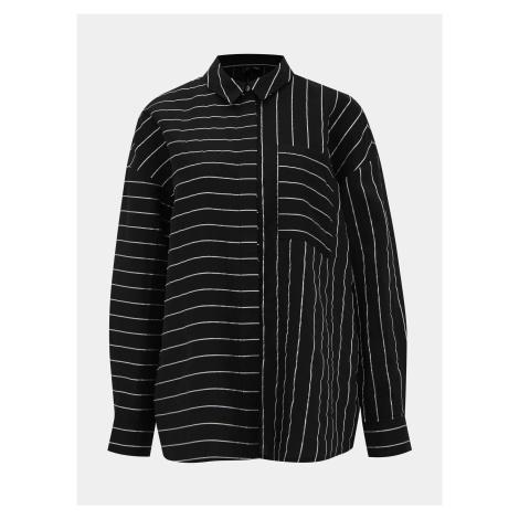 Czarna koszula w paski VERO MODA Hannnah