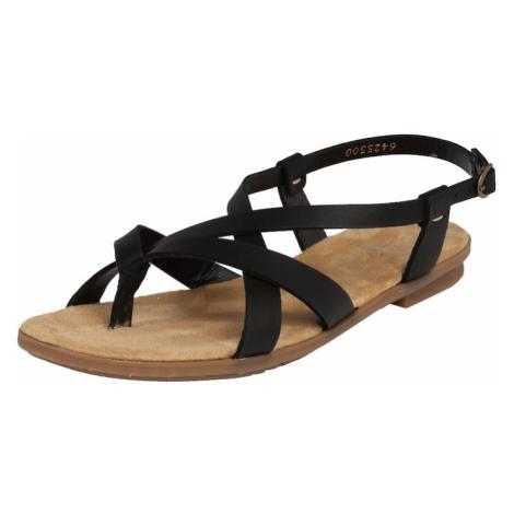 RIEKER Sandały z rzemykami czarny