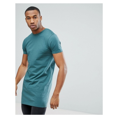 ASOS DESIGN super longline t-shirt in blue