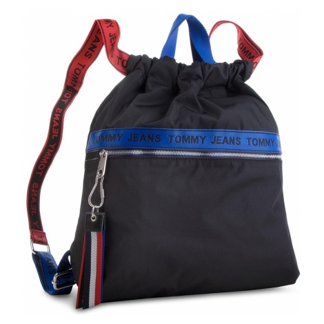 Plecak TOMMY JEANS - Tj Logo Tape Drawstr AU0AU00245 902 Tommy Hilfiger