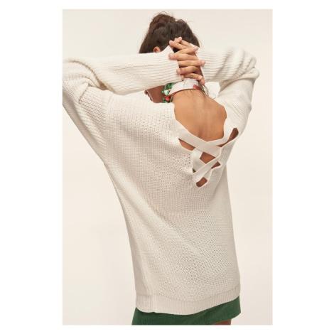 Trendyol Ecru Back Detailed Sweater Sweaters